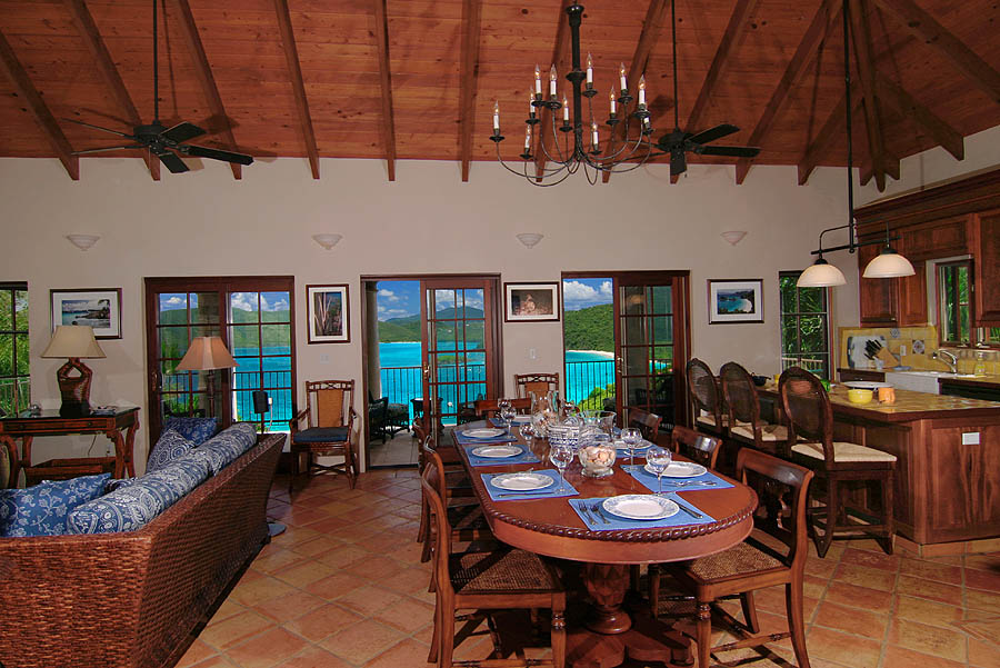 Coco de Mer Dining Room with a Spectacular Caribbean View